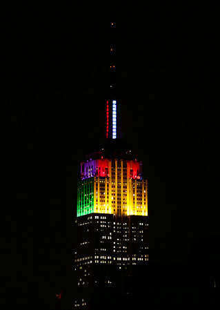 Empire State Building in Tie-Dye Colors