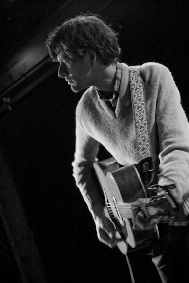 Jason Boesel performing at his homecoming show at Los Angeles' Troubadour