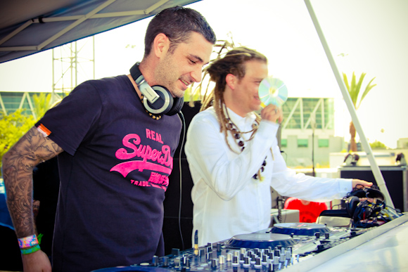 Sean Tyas and Mars at the Neon Garden stage