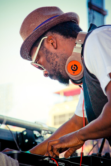 Will.I.Am on the decks on the Kinetic Field