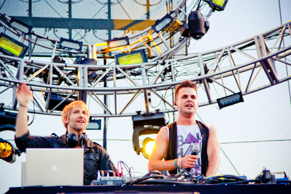 Second Sun with their live set on the Neon Garden stage