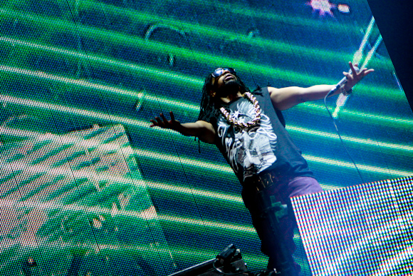 Lil John at Benny Bennasi's set on the Kinetic Field stage