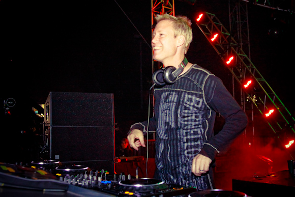 Christopher Lawrence spun a heavy and energetic set at the Neon Garden Stage