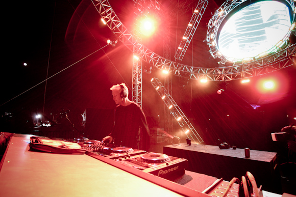 Christopher Lawrence on the Neon Garden Stage