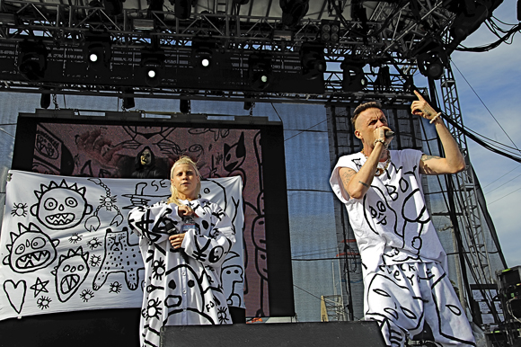 Die Antwoord performs at the Treasure Island Music Festival. Photo credit Demian Becerra