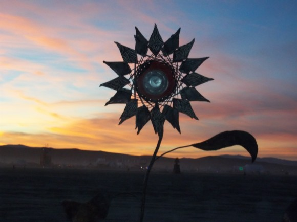 flower sunset instalation2