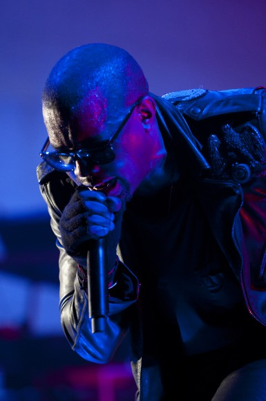 Kanye West performs during VEVO Presents: G.O.O.D. Music at VEVO Power Station on March 19, 2011 in Austin, Texas.