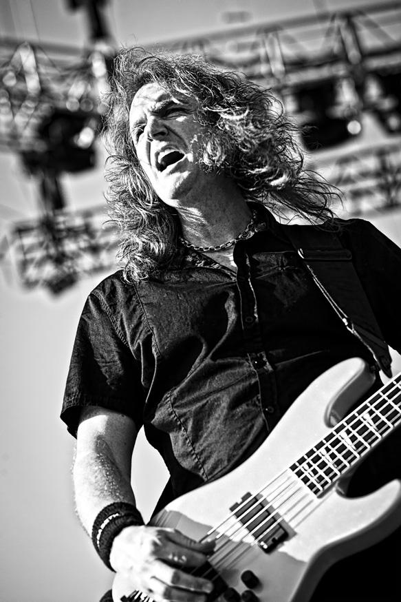 Megadeth performing at the Big 4 festival in Indio, CA. 23 April 2011.
