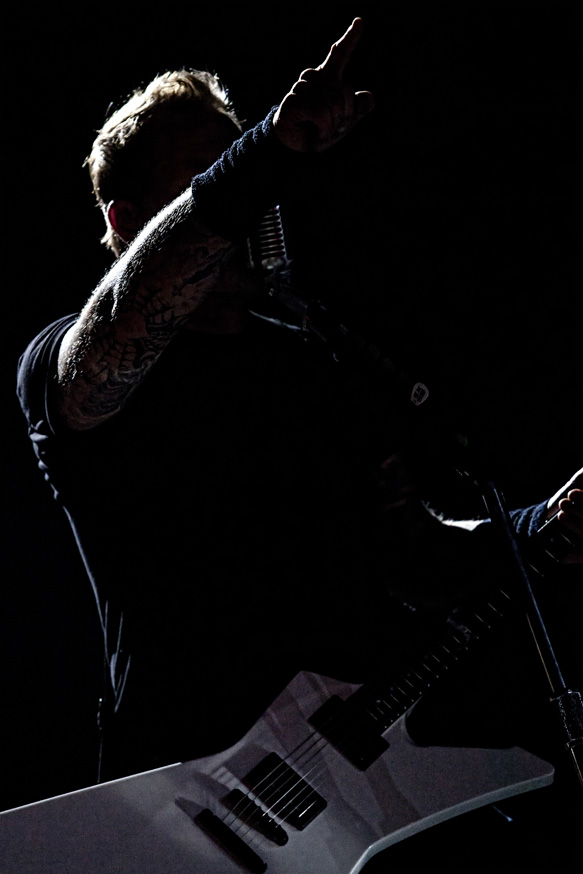 Metallica headlining at the Big 4 festival in Indio, CA. 23 April 2011.