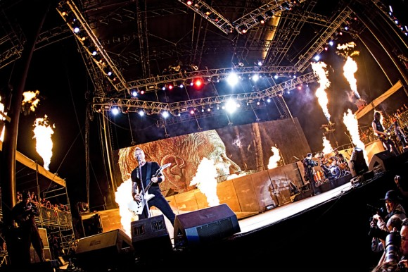 Metallica headlining at the Big 4 festival in Indio, CA. 23 April 2011.