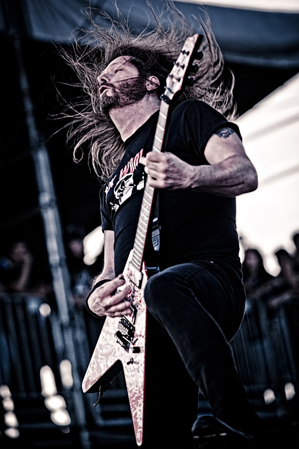 Slayer performing at the Big 4 festival in Indio, CA. 23 April 2011.