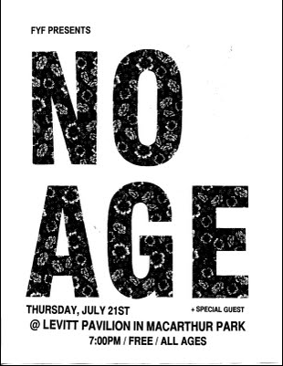No Age Flyer