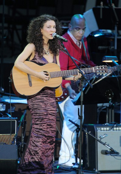 Singer Mia Doi Todd performs onstage at The Hollywood Bowl on July 24, 2011 in Los Angeles, California.
