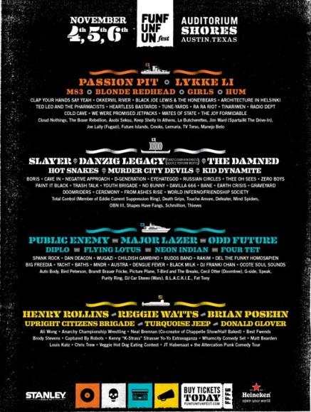 FFF 2011 Lineup Poster