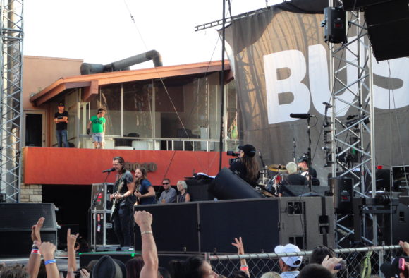 Bush performing on the Outdoor West Stage