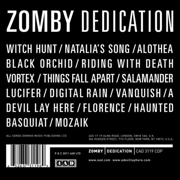 Zomby-Dedication