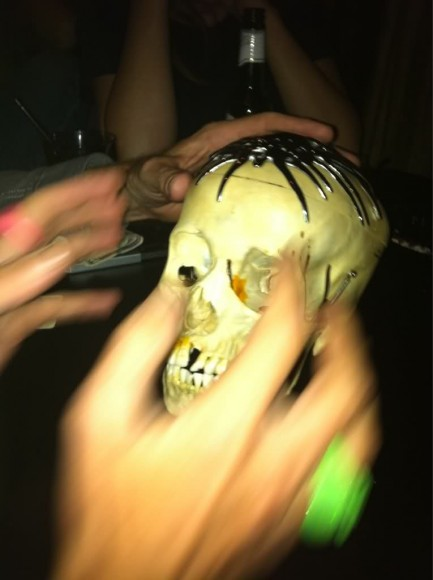 Wayne Coyne's Tweeted photo of one of the five skulls to be sold on Halloween night
