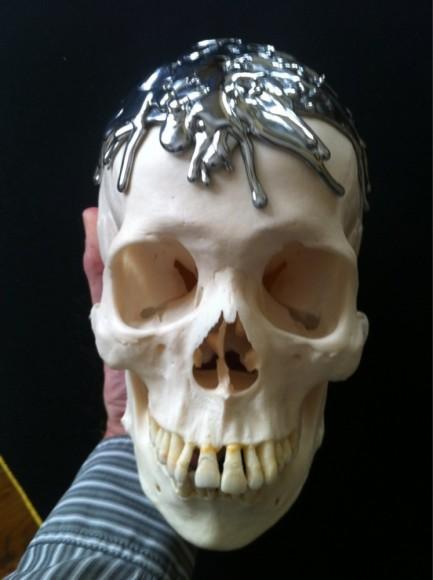 chrome drip skull
