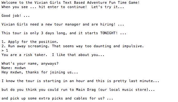 Vivian_Girls_Text_Adventure_Game_1