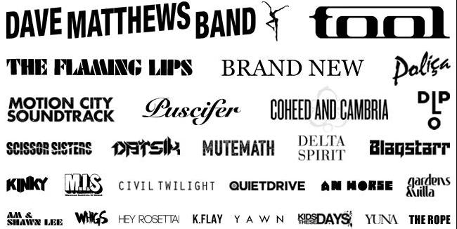 Rivers Edge Music Festival Lineup 2012