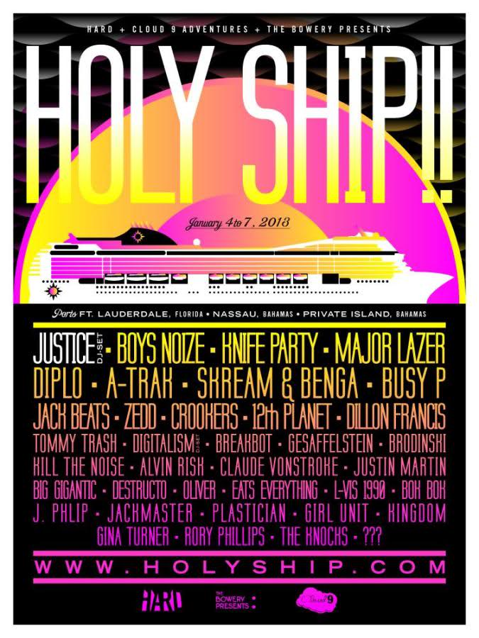 Holy Ship Music Cruise Festival Announces 2012 Lineup