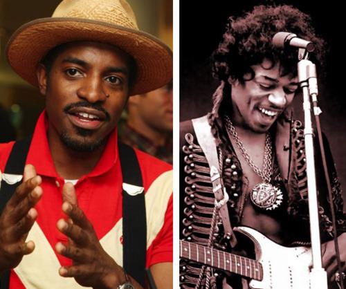 Andre 3000 and Jimi Hendrix