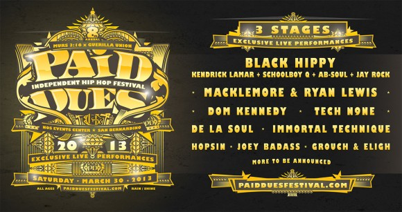 Paid Dues Festival 2013 Tickets Sat. March 30th Lineup Out!