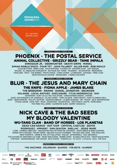 Primaver Sound 2013 poster