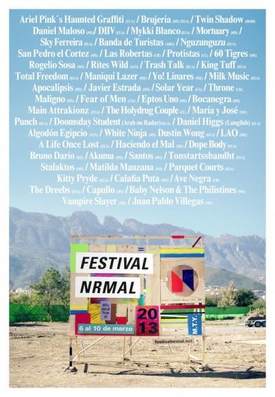 nrmal festival poster