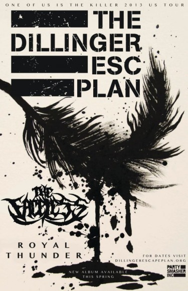 Dillinger Escape Plan Flyer
