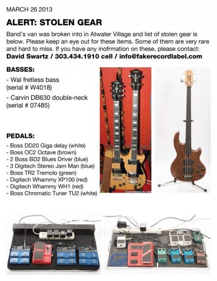 el ten eleven stolen guitars