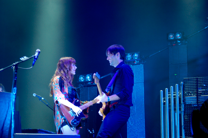 Ben Gibbard and Jenny Lewis of The Postal Service