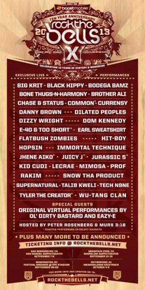 Rock The Bells Lineup 2013