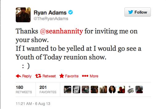 Twitter Ryan Adams 2