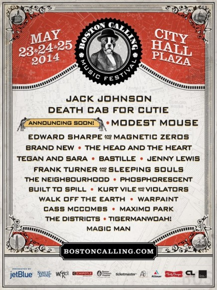 Boston Calling 2014 Flyer