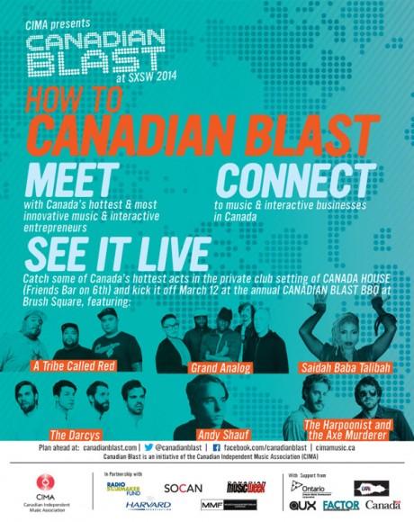 SXSW 2014 - Canadian Blast