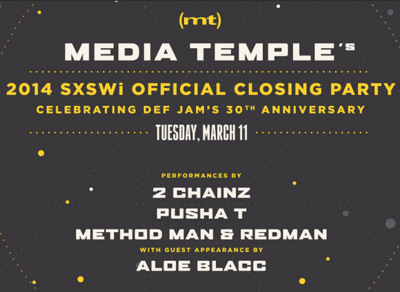 Media Temple 2014 SXSWi Closing Party ft. 2 Chainz, Aloe Blacc