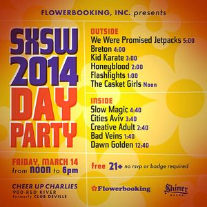 Flowerbooking, Inc SXSW 2014 Day Party ft. Breton, We Were Promised Jetpacks