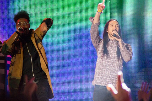 Danny Brown and Steve Aoki. Photo by April Siese.