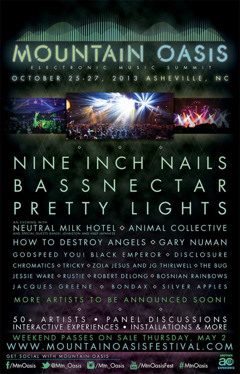 2013 Mountain Oasis Festival Flyer