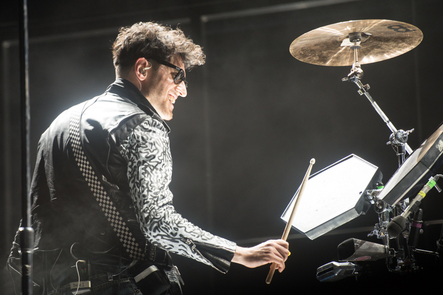 Dave 1 of electrofunk band Chromeo put on a fun show on Friday night.