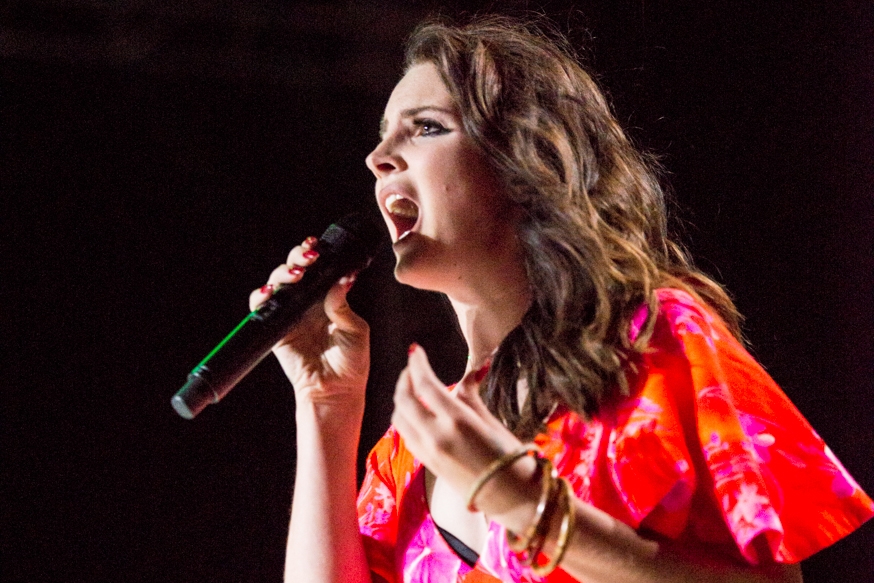 Lana Del Rey performs to a packed crowd at the Outdoor Theatre.