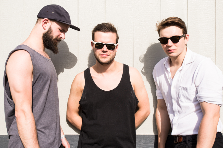 Harry McVeigh, Charles Cave, and Jack Lawrence-Brown of London band White Lies.