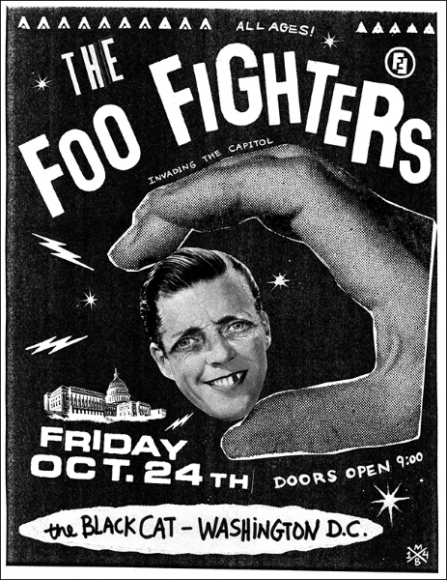 Flyer for the Foo Fighters' invasion of Washington D.C.