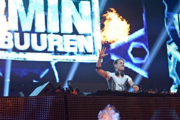 Armin Van Buuren making sparks fly on stage