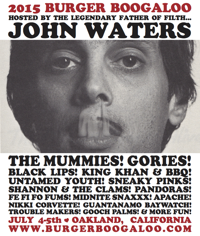 2015 Burger Boogaloo Announces Lineup Including The Mummies, The Black Lips, And King Khan & BBQ