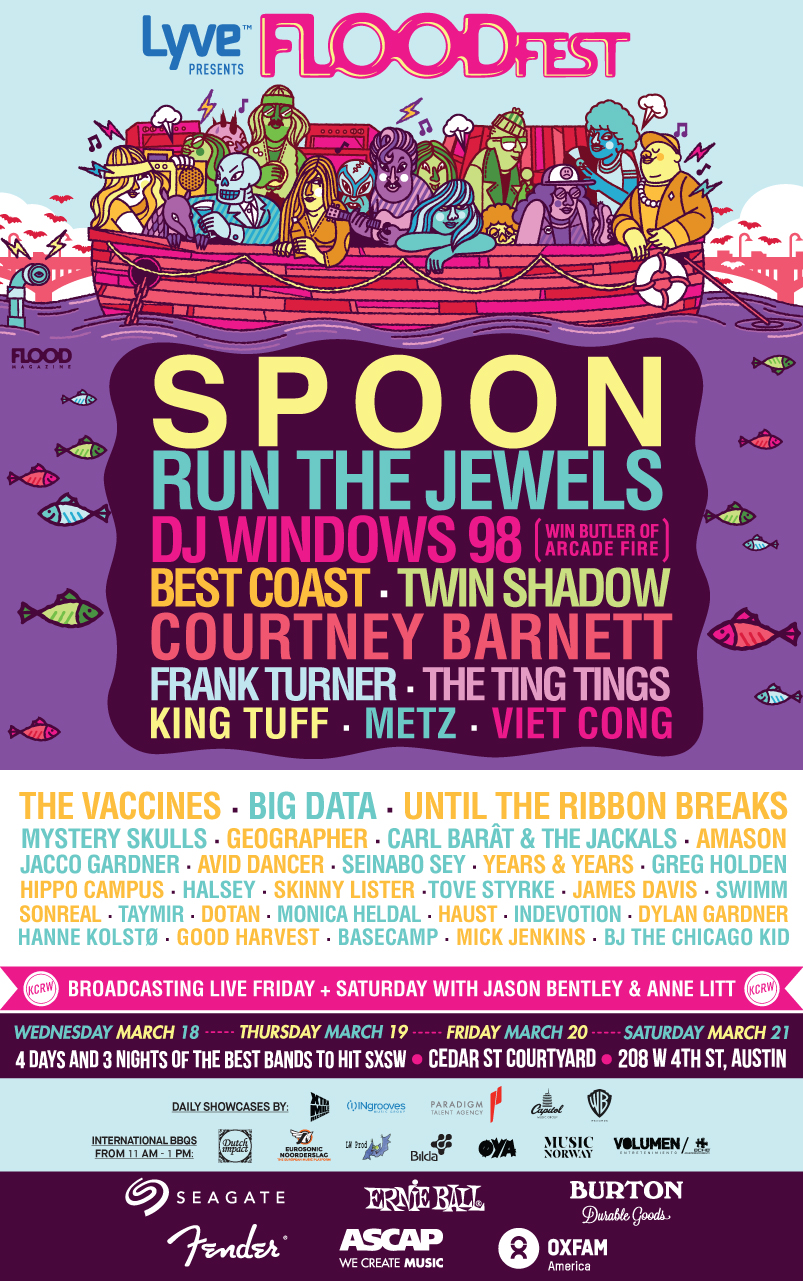 FLOODFEST SXSW 2015 Day Parties and Showcases Announced