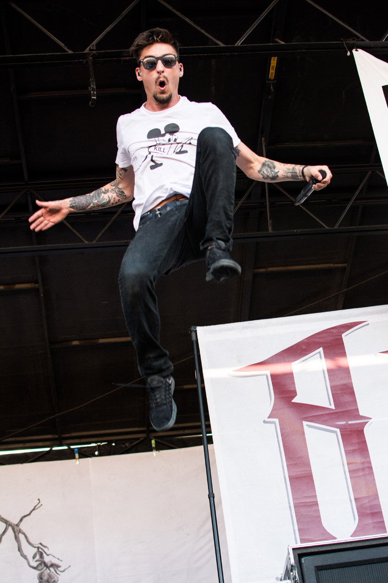 Kyle Pavone of We Came As Romans, taking an impressive jump!
