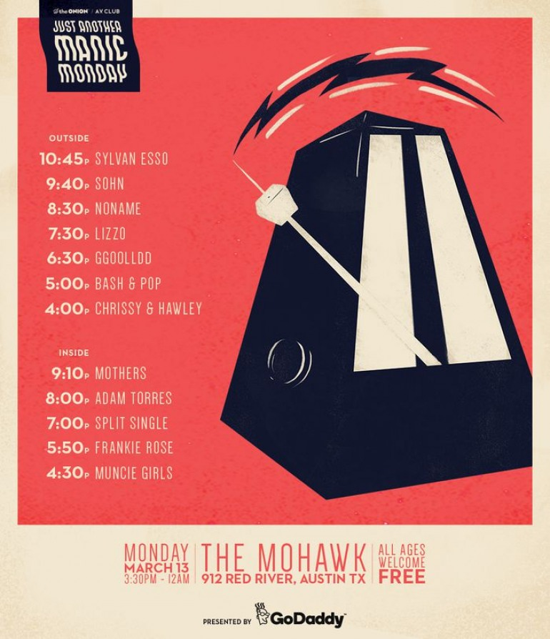 A.V. Club and The Onion Present: Just Another Manic Monday SXSW 2017 Party ft Sylvan Esso and Mothers