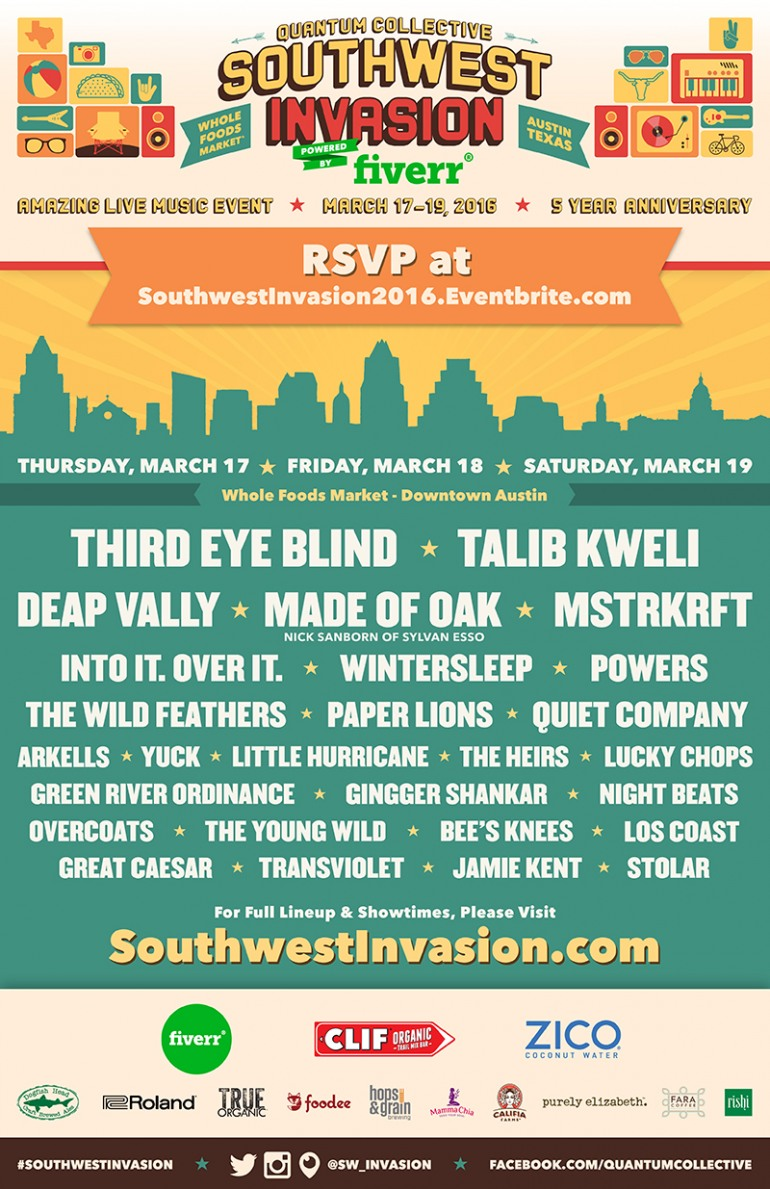 Quantum Collective's Southwest Invasion SXSW 2016 Day Parties Announced